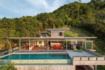 Une magnifique villa posée sur les hauteurs de l'île de Koh Samui, en Thaïlande