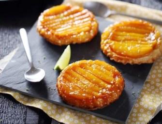 Une tarte tatin à la mangue greffée