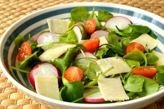 Salade de pourpier au parmesan