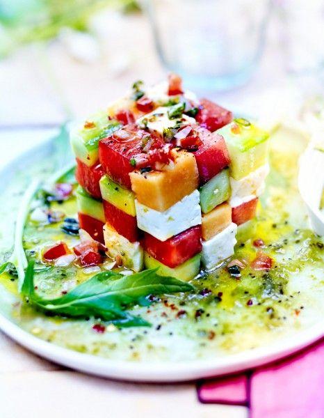 salade avocat melon pastèque