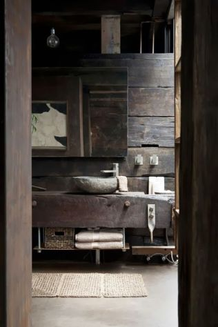 Salle de bain en béton et en bois (3)
