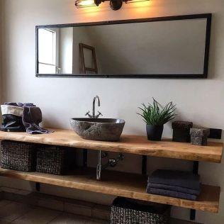 Salle de bain en béton et en bois (8)