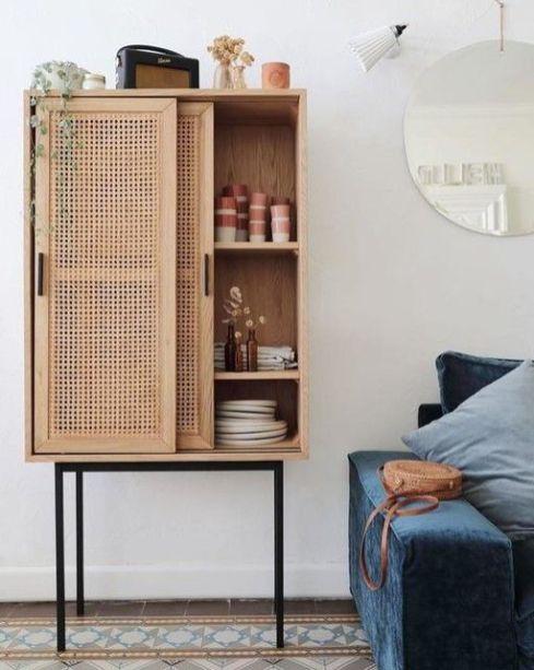 Les meubles en rotin, bambou tissés (12)
