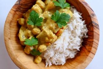 Le curry de pois chiches au lait de coco