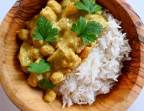 Le curry de pois chiches au lait de coco