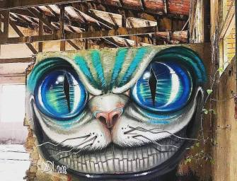 Street Art : DavidL vu par Alcala dans une maison abandonnée