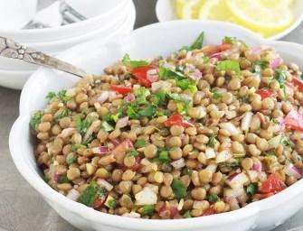 La salade de lentilles orientale