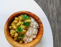Le curry de pois chiche au lait de coco