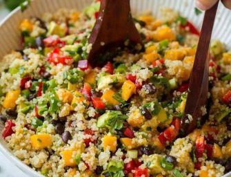 Salade de quinoa à la mangue