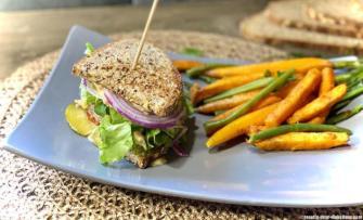 Club sandwich au veau avec sa sauce faite maison