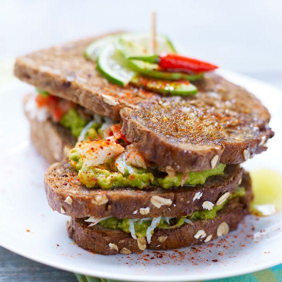 sandwich avocat crabe