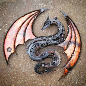 Des sculptures incroyables faites de ferraille par Alan Williams