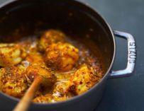 Curry de poisson flambé au cognac