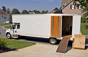 white moving truck