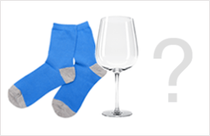 socks and wine glass
