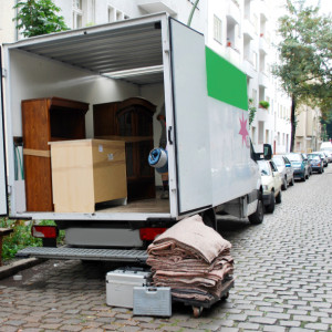 open moving truck
