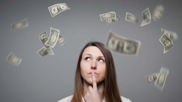 money in air