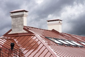 metal roof of house