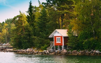 tiny house on lake
