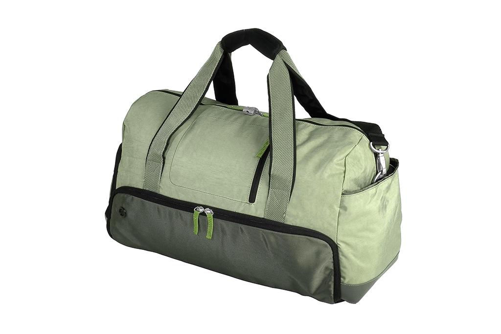 green duffel bag