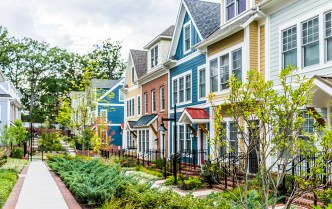 colorful townhomes