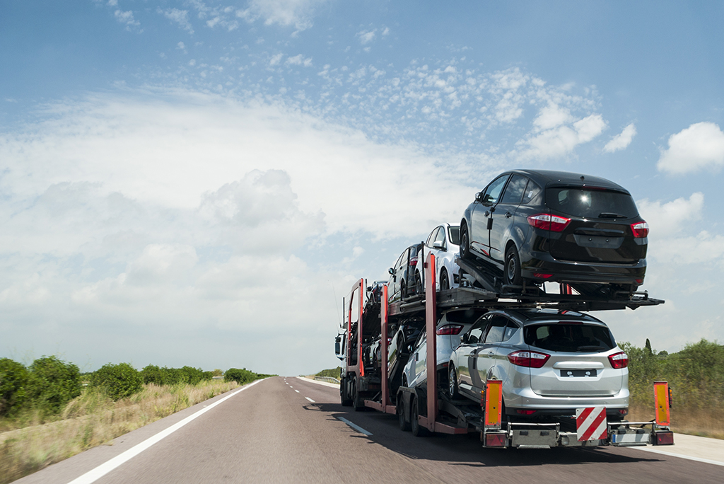 car shipping on the road