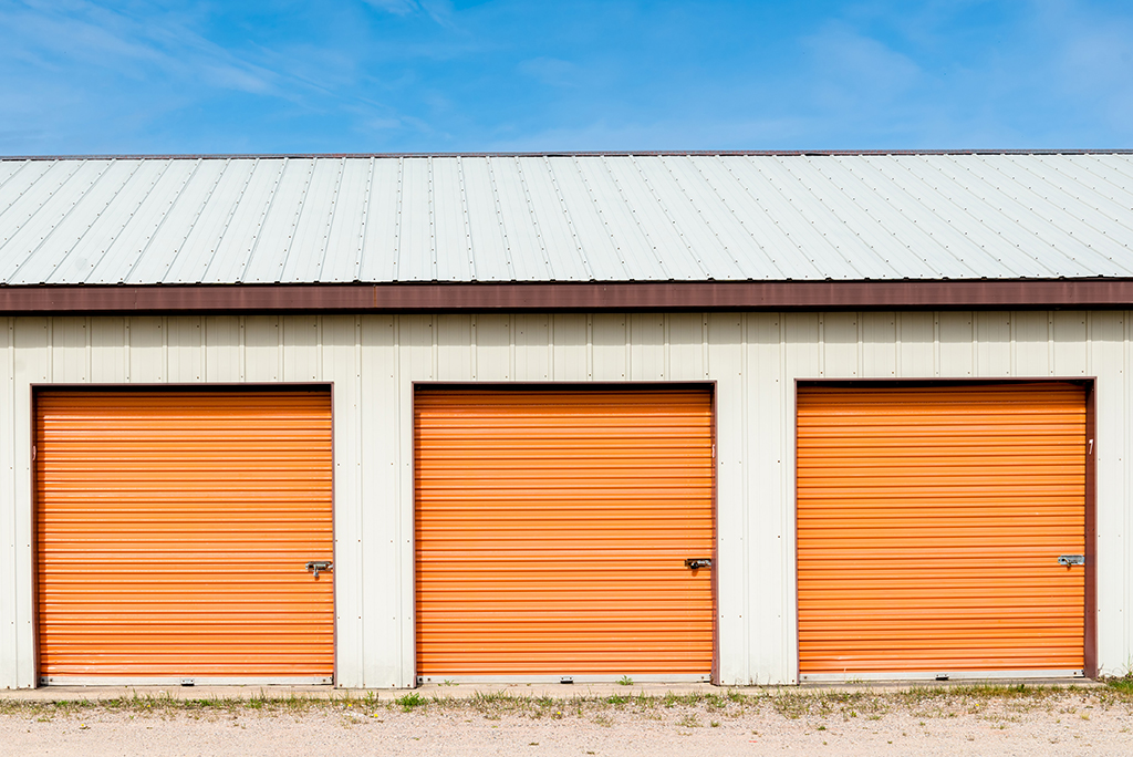 storage orange doors