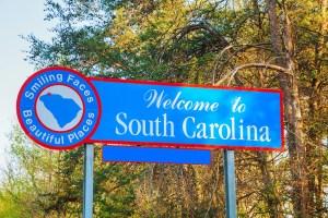 south carolina sign