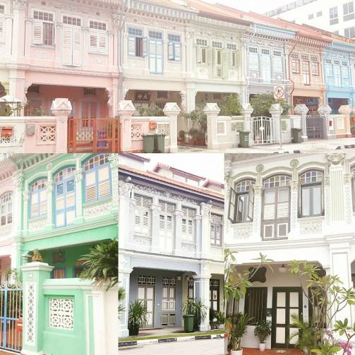 The colourful Peranakan houses in Joo Chair