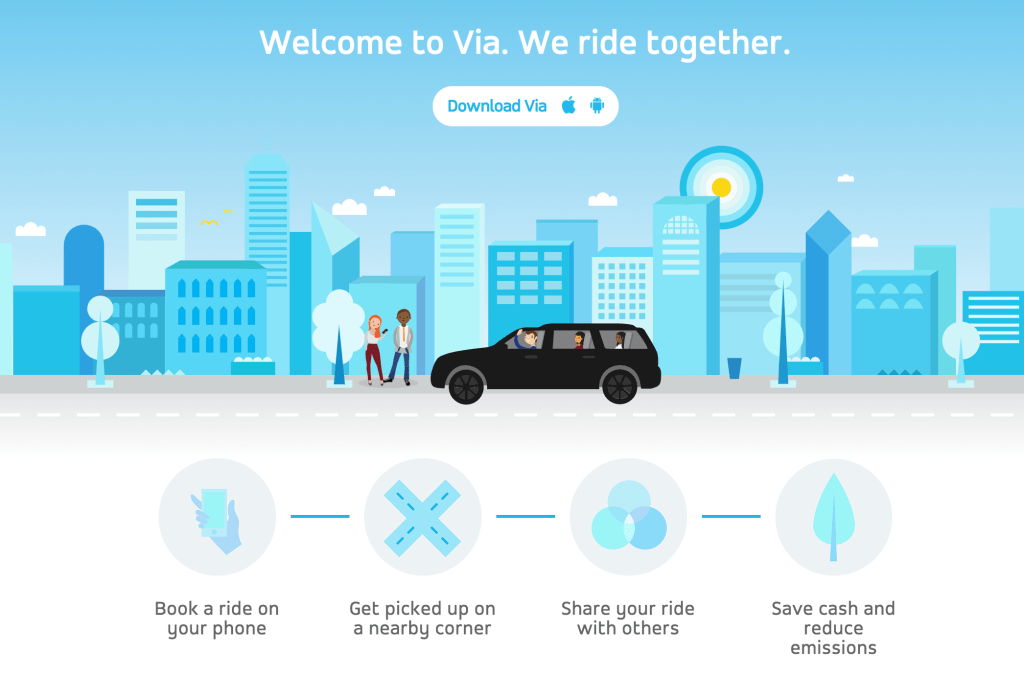 ride with via