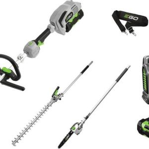 EGO Multi Tool Power Head + Hedge Trimmer + Pole Pruner + 2.5AH + Fast Charger