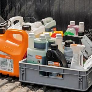 Fuel oils in crate