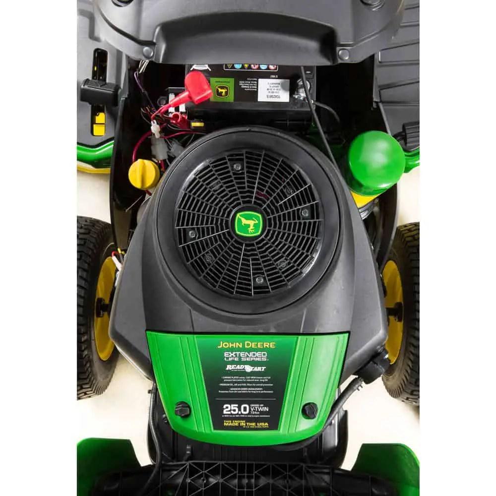 John Deere E180 54″ Deck 25HP Riding Lawn Mower – Mower Select