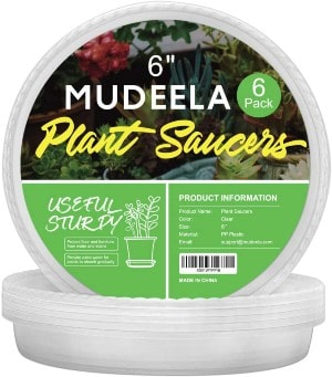 MUDEELA 6 Pack of 6 Inch Plant Saucer