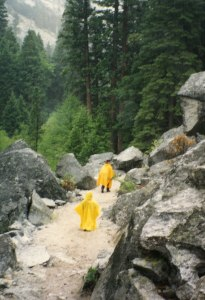 With poncho held high, the Mist Falls trek proved to be one of the best parts of this great family vacation in Kings Canyon National Park.