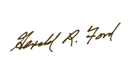 Gerald R Ford Signature
