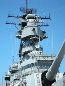 A point & shoot's zoom is handy for focusing attention on a distant object ... such as the superstructure of Mighty Mo, in Pearl Harbor.