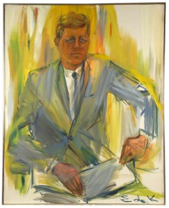 John F Kennedy, portait by Kooning