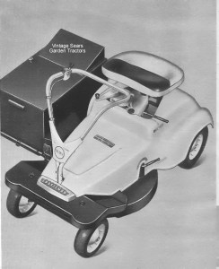 Here's a picture of the riding mower that I used from elementary school through high school.  I even earned a dollar now and again.