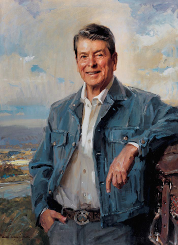 Everett Raymond Kinstler's portrait of Ronald Reagan in the National Cowboy Hall of Fame in Oklahoma City