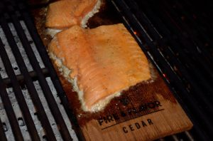 Salmon cooking