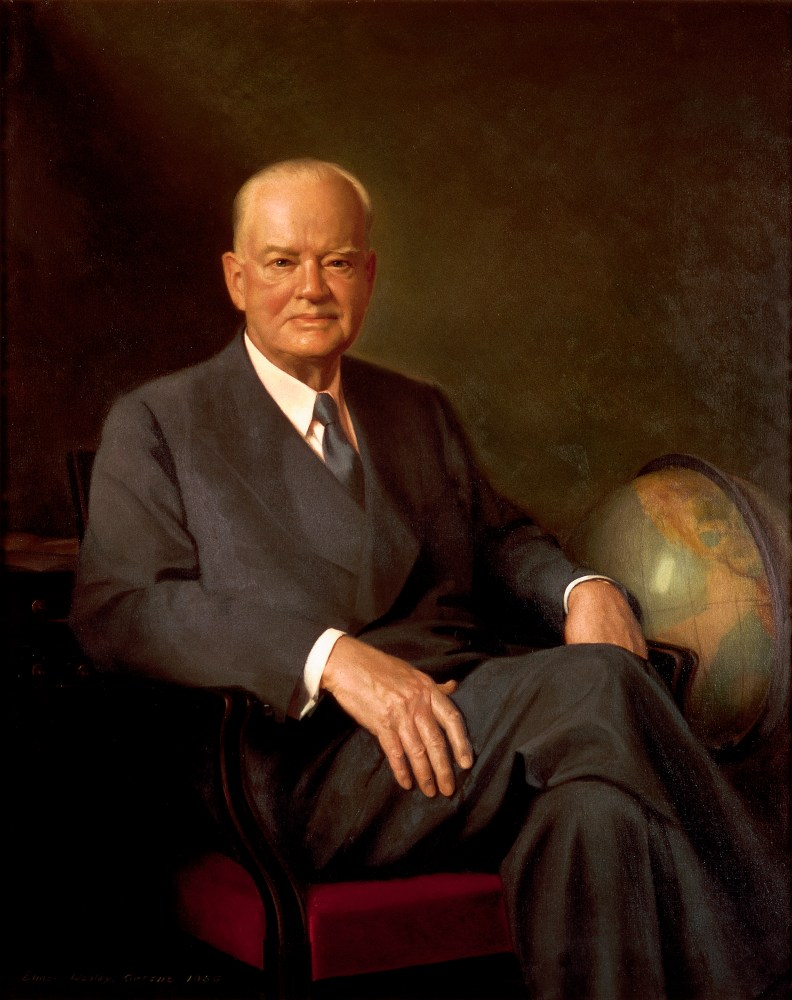 Herbert Hoover, Official White House Portrait