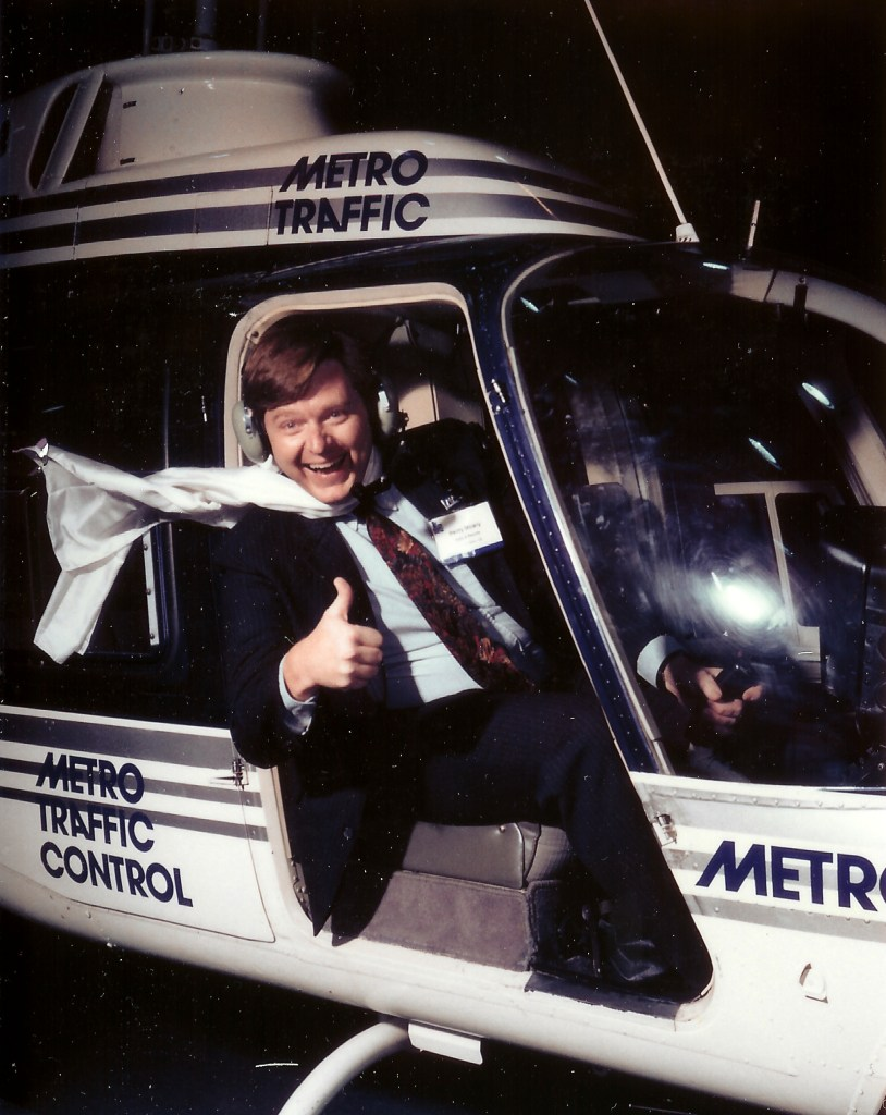 I worked as a traffic reporter briefly in the 90s; here is the iconic shot as I lifted off one morning.