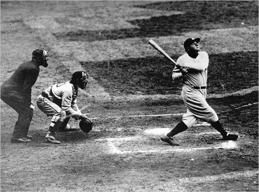 """Reading isn't good for a ballplayer. Not good for his eyes. If my eyes went bad even a little bit I couldn't hit home runs. So I gave up reading.""- Babe Ruth"