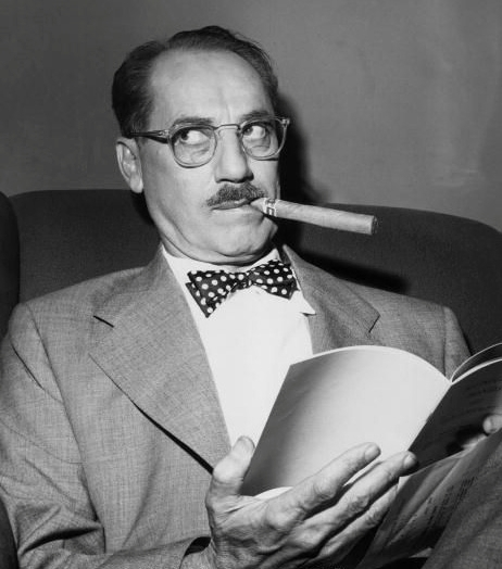 """From the moment I picked your book up until I laid it down, I was convulsed with laughter. Someday I intend reading it.""and""""- Groucho Marx"