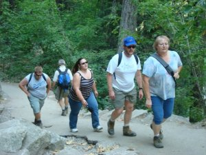 Here we are on a day hike at Yosemite in 2007. Yes, we carry the Ten Essentials!