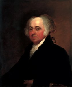 Edgar Parker painted the portrait in 1878 based on an original by Gilbert Stuart.