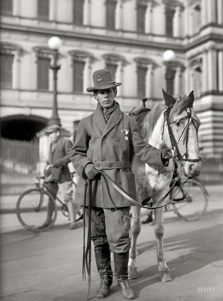 Red Fox James, a Blackfoot Indian, rode horseback from state to state seeking approval for a day to honor Indians. On Dec. 14, 1915, he presented the endorsements of 24 state governments at the White House. There is no record, however, of such a national day being proclaimed. (Library of Congress)