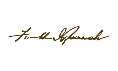 Franklin Roosevelt Signature