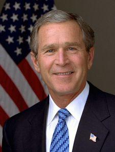 Bush, George W, photo by Eric Draper